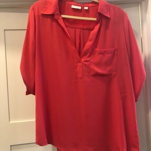 Pink blouse, 3/4 sleeve, New York & Co